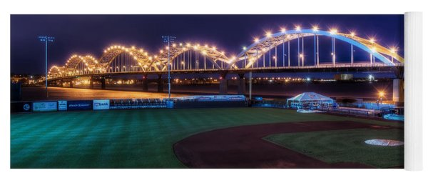 Centennial Bridge And Modern Woodmen Park Yoga Mat