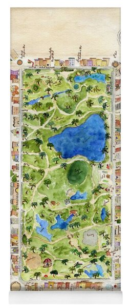 Central Park And All That Surrounds It Yoga Mat