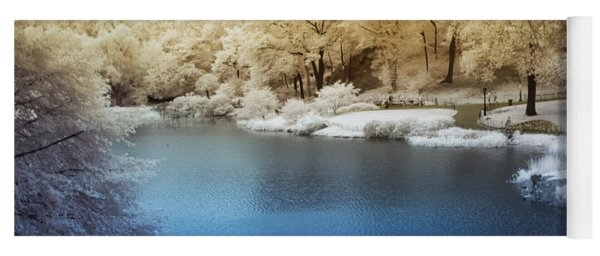 Central Park Lake Infrared Yoga Mat