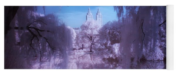 Central Park Lake Willows Color Yoga Mat
