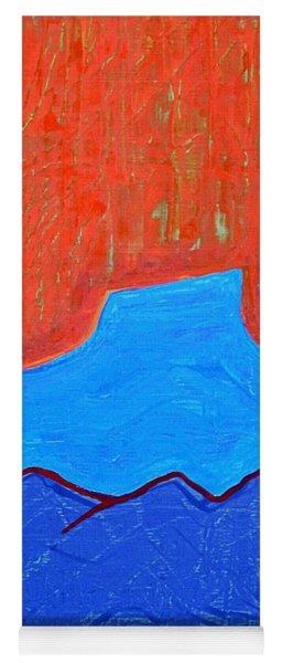 Cerro Pedernal Original Painting Sold Yoga Mat