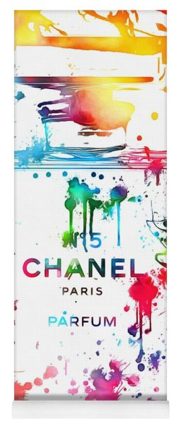 Chanel Number Five Paint Splatter Yoga Mat