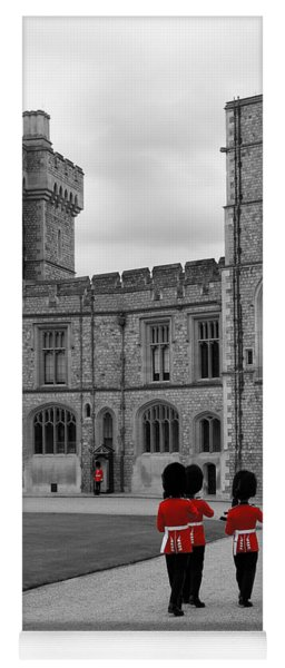 Changing Of The Guard At Windsor Castle Yoga Mat