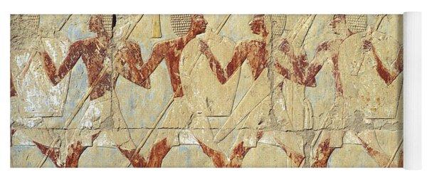 Chapel Of Hathor Hatshepsut Nubian Procession Soldiers - Digital Image -fine Art Print-ancient Egypt Yoga Mat