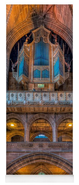 Yoga Mat featuring the photograph Chapel Organ by Adrian Evans