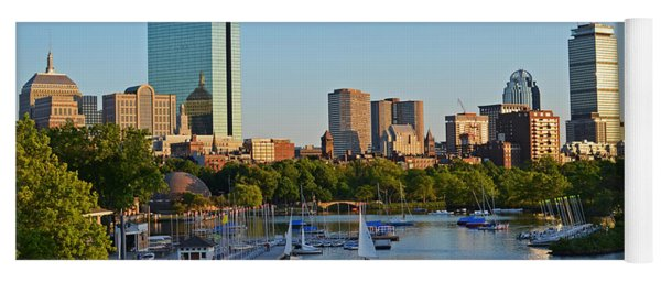 Charles River At Sunset Yoga Mat