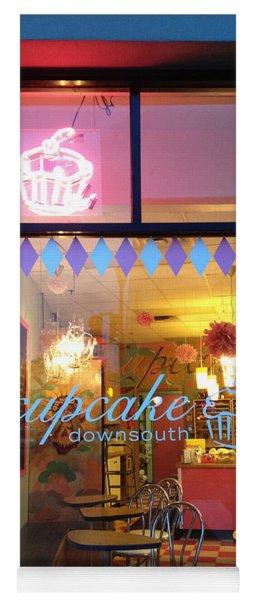 Charleston Cupcake Cafe - Southern Charming Cupcake Down South Colorful Cupcake Shop Yoga Mat