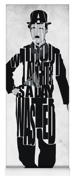 Charlie Chaplin Typography Poster Yoga Mat