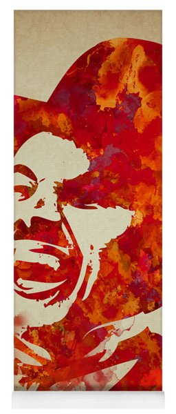 Charlie Chaplin Watercolor Painting Yoga Mat