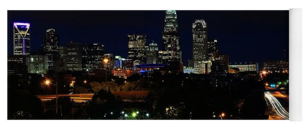 Charlotte Nc At Night Yoga Mat