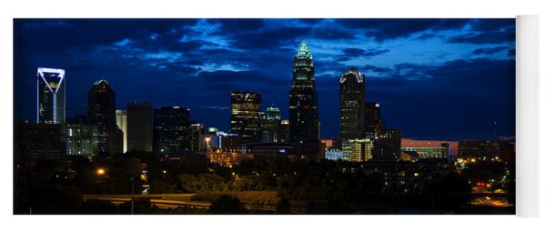 Charlotte North Carolina Panoramic Image Yoga Mat