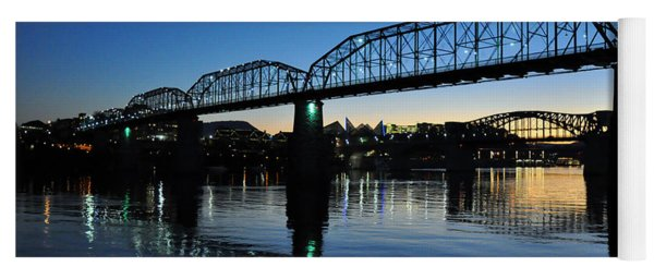 Tennessee River Bridges Chattanooga Yoga Mat