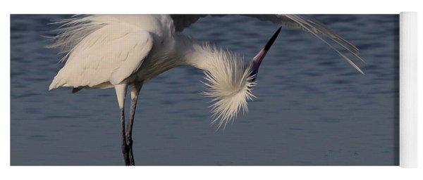 Checking For Leaks - Reddish Egret - White Form Yoga Mat