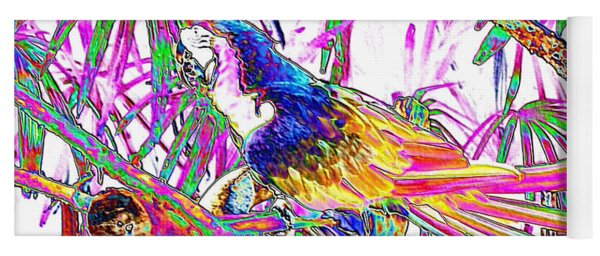 Cheerful Parrot. Colorful Art Collection. Promotion - August 2015 Yoga Mat