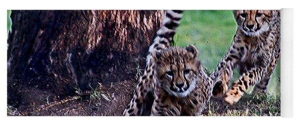 Cheetah Cubs Yoga Mat
