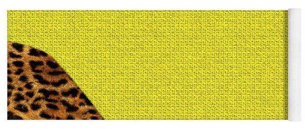 Cheetah Furry Bottom On Yellow Yoga Mat