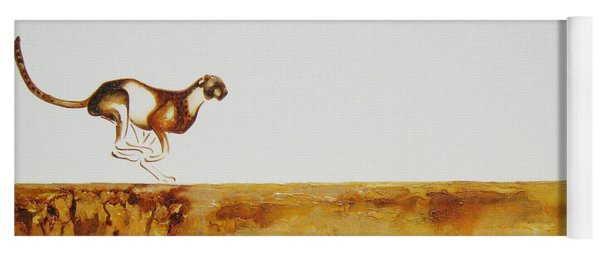 Cheetah Race - Original Artwork Yoga Mat