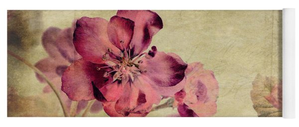 Cherry Blossom With Textures Yoga Mat