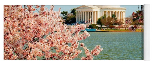 Cherry Trees At The Jefferson Yoga Mat