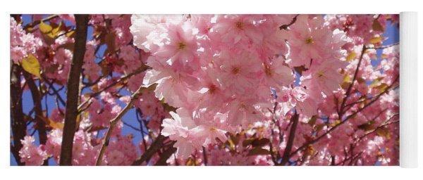 Cherry Trees Blossom Yoga Mat
