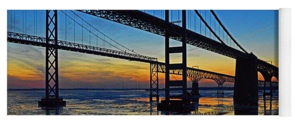 Chesapeake Bay Bridge Reflections Yoga Mat