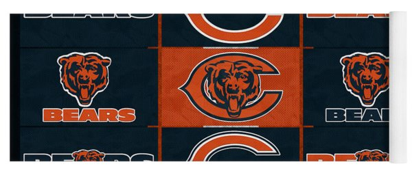 Chicago Bears Uniform Patches Yoga Mat