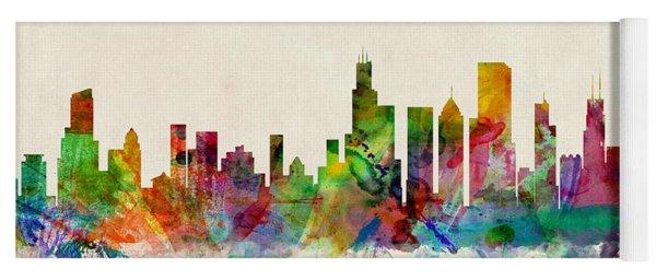 Chicago City Skyline Yoga Mat