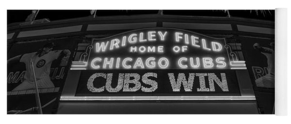 Chicago Cubs Win Fireworks Night B W Yoga Mat