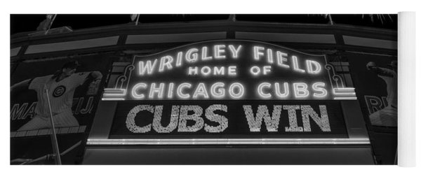 Chicago Cubs Win Fireworks Night B W Yoga Mat