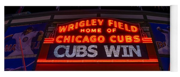 Chicago Cubs Win Fireworks Night Yoga Mat
