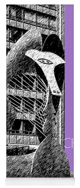 Chicago Pablo Picasso - Violet Yoga Mat