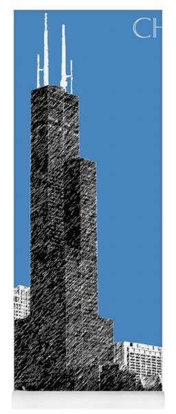 Chicago Sears Tower - Slate Yoga Mat