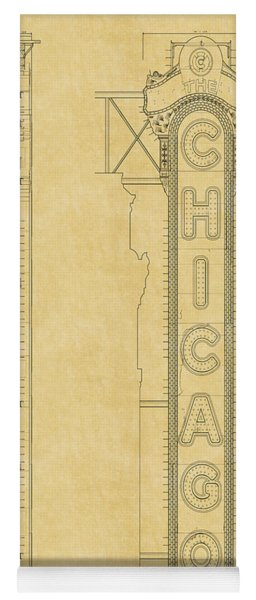 Chicago Theatre Blueprint Yoga Mat