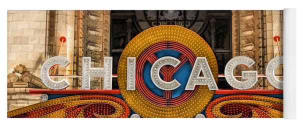 Chicago Theatre Marquee Sign Yoga Mat