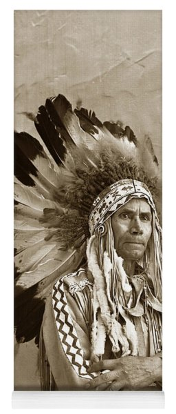 Chief Red Eagle Carmel California Circa 1940 Yoga Mat