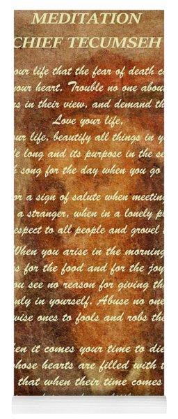 Chief Tecumseh Poem Yoga Mat