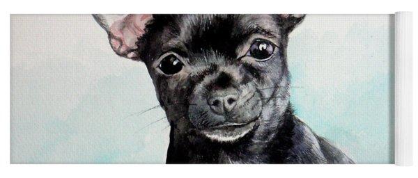 Chihuahua Black Yoga Mat