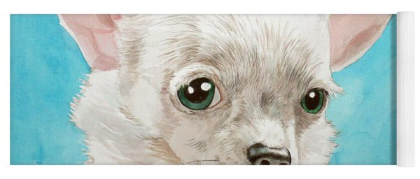 Chihuahua Dog White Yoga Mat