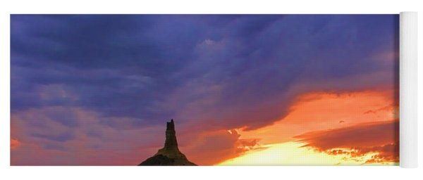 Chimney Rock Nebraska Yoga Mat