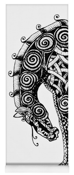 Chinese Horse - Zentangle Yoga Mat