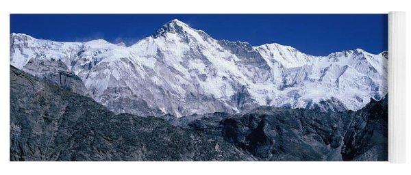 Cho Oyu From Goyko Valley Khumbu Region Yoga Mat
