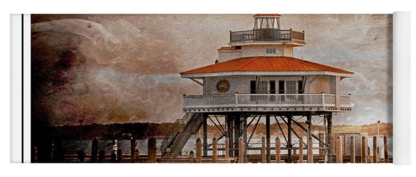 Choptank River Lighthouse Yoga Mat