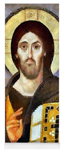 Christ Pantocrator Of Sinai Yoga Mat