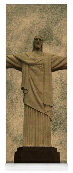 Christ The Redeemer Brazil Yoga Mat