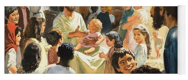Christ With Children Yoga Mat