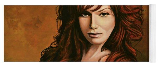 Christina Hendricks Painting Yoga Mat