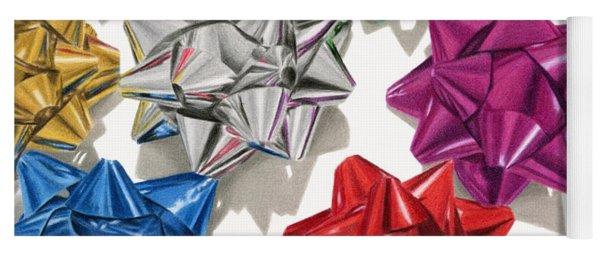 Christmas Bows And Shadows Yoga Mat