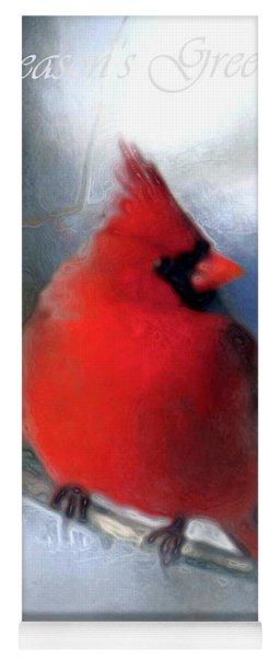 Christmas Card - Cardinal Yoga Mat