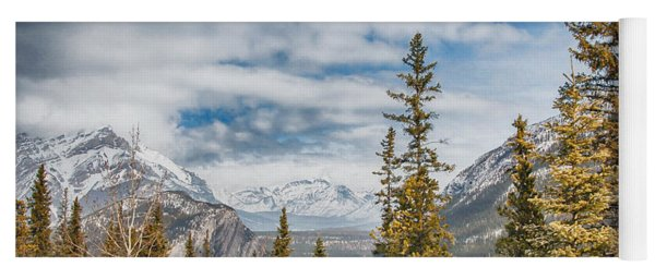 Christmas Day In Banff Yoga Mat