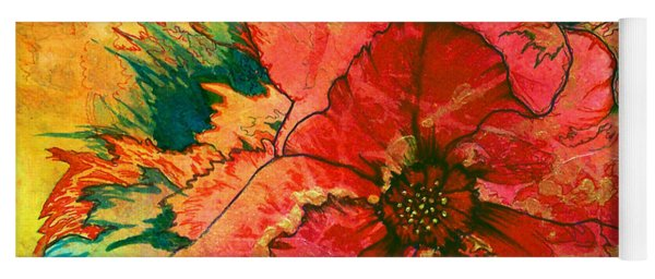 Christmas Flower Yoga Mat